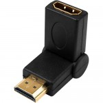 4XEM 90 Degree Swivel HDMI A Male To HDMI A Female Adapter 4XHDMIMFSWIVEL