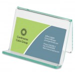 Acrylic Transparent Green Edge Business Card Holder 80657