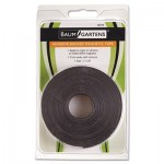 "Baumgartens Adhesive-Backed Magnetic Tape, Black, 1/2"" x 10ft, Roll BAU66010"