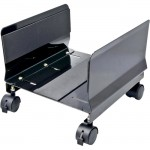 SYBA Multimedia All Metal, Heavy Duty CPU Stand/Roller, Tall Walls, Castors, Black Color SY-ACC65063
