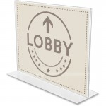 Anti-Glare Double-sided Sign Holder 879301