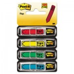 "Post-It Flags 684SH Arrow Message 1/2"" Page Flags, ""Sign Here"", 4 Colors w/Dispensers, 120/Pack MMM684SH"