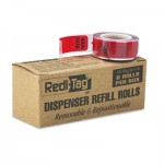 "Redi-Tag Arrow Message Page Flag Refills, ""Sign Here"", 6 Rolls of 120 Flags/Box RTG91012"