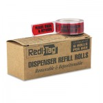"Redi-Tag Arrow Message Page Flag Refills, ""Please Sign & Return"", Red, 120/Roll, 6 Rolls RTG91037"