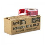 "Redi-Tag Arrow Message Page Flag Refills, ""Sign Here"", Red, 6 Rolls of 120 Flags/Box RTG91002"