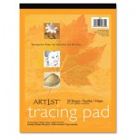 Pacon Art1st Parchment Tracing Paper, 9 x 12, White, 50 Sheets PAC2312