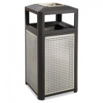 Safco Ashtray-Top Evos Series Steel Waste Container, 38 gal, Black SAF9935BL