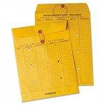 Quality Park Brown Recycled Kraft String & Button Interoffice Envelope, 10 x 13, 100/Carton QUA63560