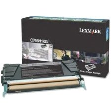 Lexmark C746,C748 Black High Yield Return Program Print Cartridge (12K) C746H4KG