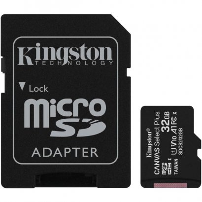 Kingston Canvas Select Plus microSD Card With Android A1 Performance Class SDCS2/32GB