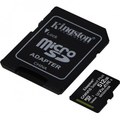 Kingston Canvas Select Plus microSD Card With Android A1 Performance Class SDCS2/512GB