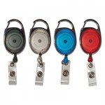 "Advantus Carabiner-Style Retractable ID Card Reel, 30"" Extension, Assorted, 20/Pack AVT75552"