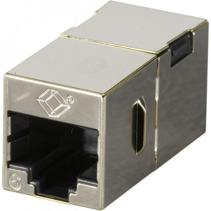 Black Box Cat.6 Shielded Straight-Pin Coupler - Metal FM608