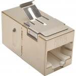Tripp Lite Cat6a Straight-Through Modular Shielded In-Line Snap-In Coupler (RJ45 F/F) N235-001-SH-6A
