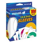 Maxell CD-402 CD/DVD Sleeves (100-Pack) 190133