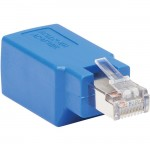 Tripp Lite Cisco Serial Console Rollover Adapter (M/F) - RJ45 to RJ45, Shielded, Blue N034-001-SH