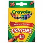 Crayola 523024 Classic Color Crayons, Peggable Retail Pack, 24 Colors CYO523024