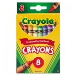 Crayola 523008 Classic Color Crayons, Peggable Retail Pack, Peggable Retail Pack, 8 Colors CYO523008