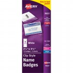 Avery Clip Style Name Badges 74651