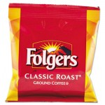 Folgers Coffee, Fraction Pack, Classic Roast, 1.5oz, 42/Carton FOL06430