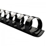 "Swingline Gbc CombBind Standard Spines, 1-1/2"" Diameter, 330 Sheet Capacity, Black, 100/Box SWI4200010"