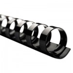"Swingline Gbc CombBind Standard Spines, 1"" Diameter, 225 Sheet Capacity, Black, 100/Box SWI4000118"