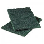 Scotch-Brite PROFESSIONAL Commercial Heavy-Duty Scouring Pad, Green, 6 x 9, 12/Pack MMM86