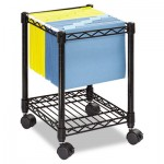 Safco Compact Mobile Wire File Cart, One-Shelf, 15-1/2w x 14d x 19-3/4h, Black SAF5277BL