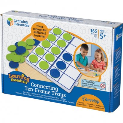 Learning Resources Connecting Ten-Frame Trays LER6650