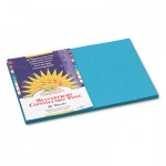 SunWorks Construction Paper, 58 lbs., 12 x 18, Turquoise, 50 Sheets/Pack PAC7707