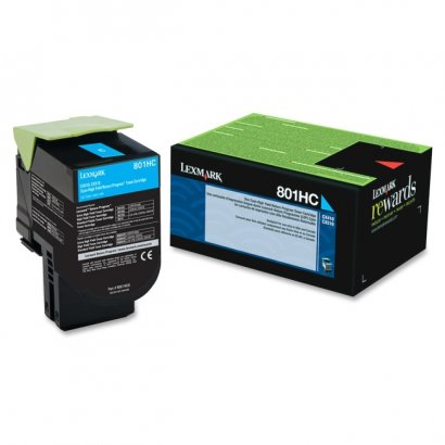 Lexmark Cyan High Yield Return Program Toner Cartridge 80C1HC0