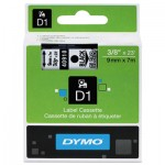 DYMO D1 Polyester High-Performance Removable Label Tape, 3/8in x 23ft, Black on Clear DYM40910