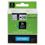 DYMO D1 Polyester High-Performance Removable Label Tape, 1in x 23ft, Black on White DYM53713