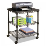 Safco Desk Side Wire Machine Stand, Three-Shelf, 24w x 20d x 27h, Black SAF5207BL