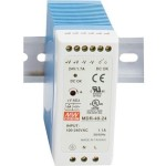 B&B DIN Rail Mount Power Supply 24VDC, 1.0 A Output Power MDR-20-24