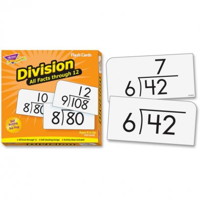 Division 0-12 All Facts Skill Drill Flash Cards 53204