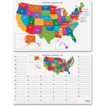 Dry Erase Learning Board Maps 2206