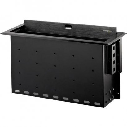 StarTech.com Dual-Module Conference Table Connectivity Box with Cable Organizer BOX4MODULE