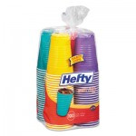 Hefty C21637 Easy Grip Disposable Plastic Party Cups, 16 oz, Assorted, 100/Pack, 4Pk/Carton RFPC21637CT