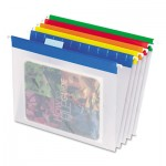 Pendaflex EasyView Poly Hanging File Folders, 1/5 Tab, Letter, Assorted Colors, 25/Box PFX55708