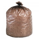 Stout Eco-Degradable Plastic Trash Garbage Bag, 39gal, 1.1mil, 33 x 44, Brown, 40/Box STOG3344B11