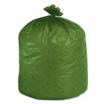 Stout Eco-Degradable Plastic Trash Garbage Bag, 33gal, 1.1mil, 33 x 40, Green, 40/Box STOG3340E11