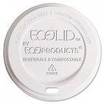 Eco-Products EcoLid Renewable/Compostable Hot Cup Lid, Fits 10-20oz Hot Cups, 50/PK, 16 PK/CT ECOEPECOLIDW
