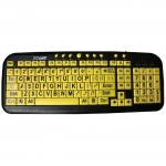 DataCal Ezsee Low Vision Keyboard Large Print Yellow Keys CD-1038