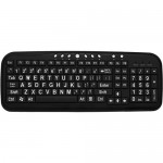 DataCal Ezsee Low Vision Keyboard Large White Print Black Keys CD-1039