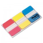 Post-It Tabs 686RYB File Tabs, 1 x 1 1/2, Assorted Primary Colors, 66/Pack MMM686RYB