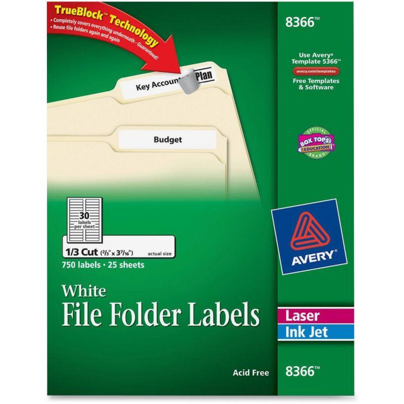 Avery 8366 Template. Avery File Folder Template 5366 Avery File ...