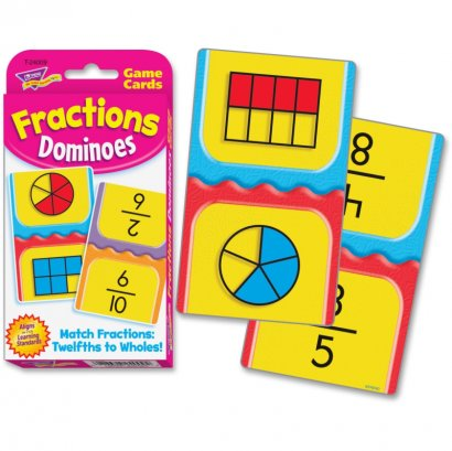 Fractions Dominoes Challenge Cards 24009