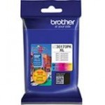 Brother Genuine 3 Pack High Yield Color Ink Cartridges LC30173PK
