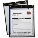 Heavy Duty Super Heavyweight Plus Stitched Shop Ticket Holder, Black, 9x12, 15/BX 50912
